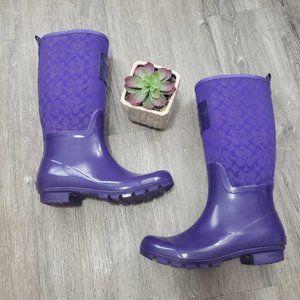 Coach Pearl Rainboots Purple Sz 8